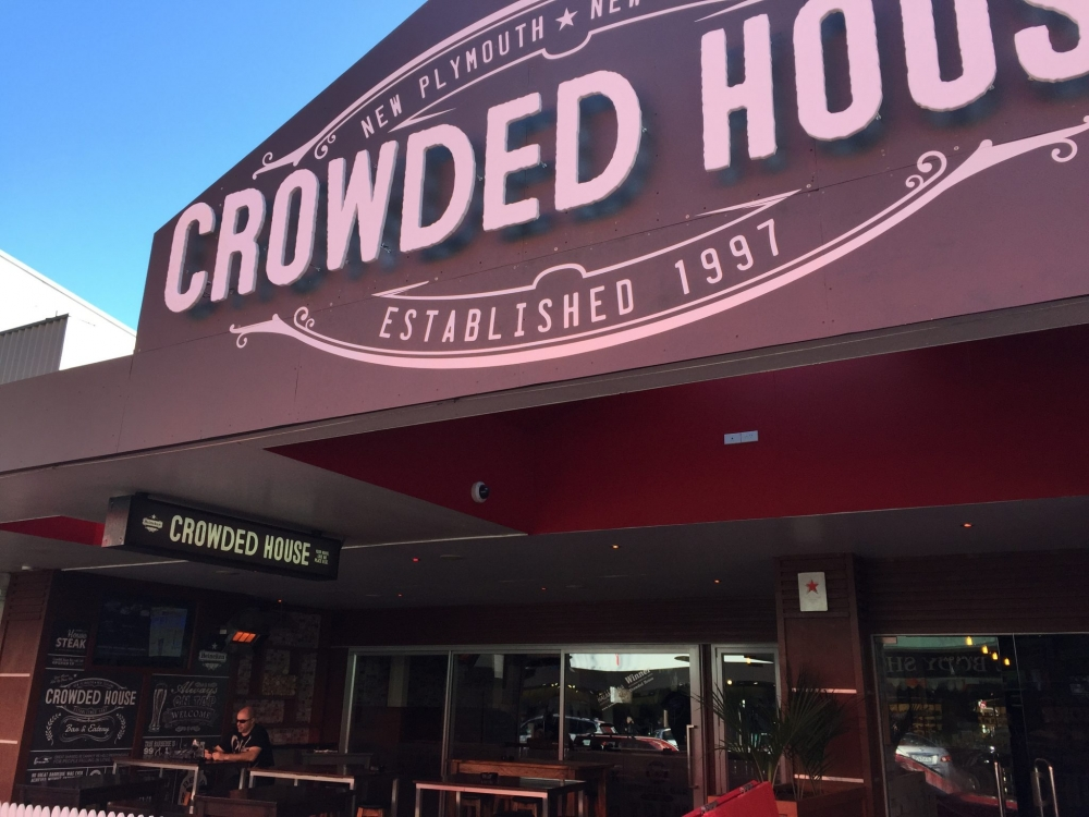 Crowded House Sports Bar in central New Plymouth